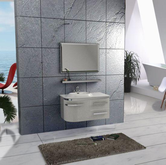 Modern Premium Stainless Steel Bathroom Vanity Cabinet with Sink