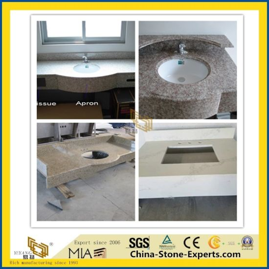 White/Black/Grey/Gray/Crystal/Counter/Table/Worktop/Bench/Kitchen/Bathroom/Worktop/Vanity Granite/Quartz/Marble Stone Top for Hotel Decor