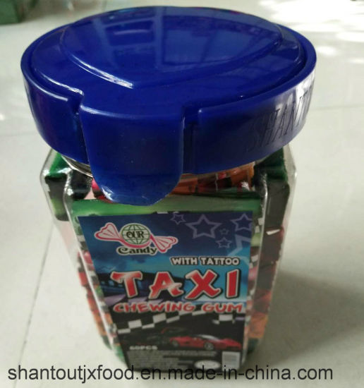 Bottled Taxi Chewing Gum 5 Flavors with Tattoo