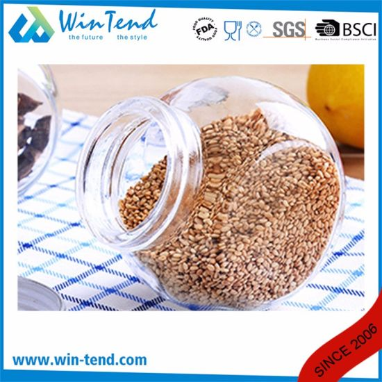 Wholesale Kitchen Storage Glass Jar Canister with Screw Silver Aluminum Lid pictures & photos