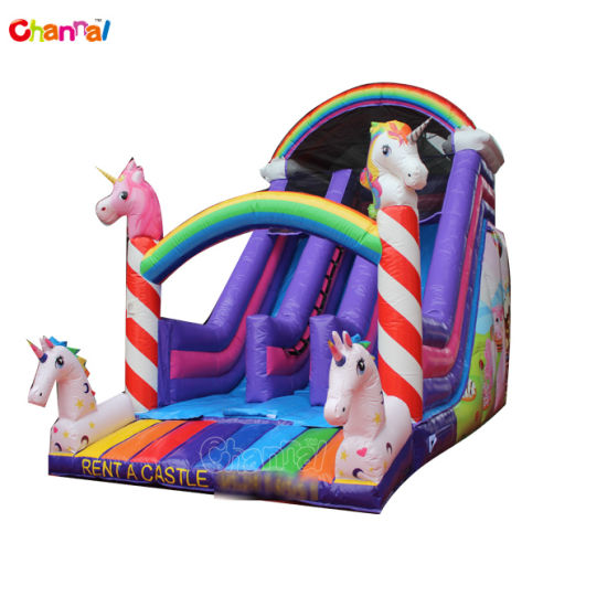 2021 New Design Unicorn Inflatable Slide for Kids pictures & photos