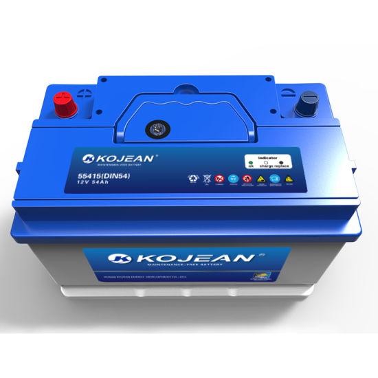 Good Quality Price DIN55 DIN Standard 12V 55ah Maintenance Free Lead Acid Auto Battery