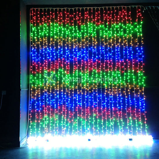 Outdoor Decoration Led Christmas Waterfall Curtain Lights