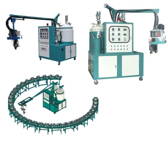 Banana Type Low Pressure PU Pouring Machine for Sole