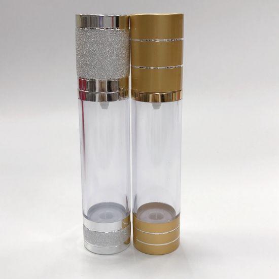 Plastic 30ml 50ml Airless Cosmetic Dispenser Pump Bottle Wholesales