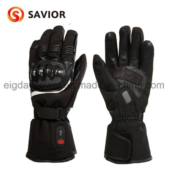 Wholesale Winter Rechargeable Battery Heated Skiing Motorcycle Leather Gloves