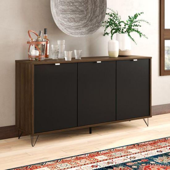 Kitchen Cabinets Dark Brown Black, Wayfair Dining Room Cabinets