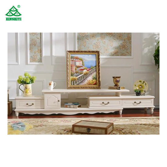 Wall Unit White Corner Tv Stand Cabinet Wooden Furniture European Style