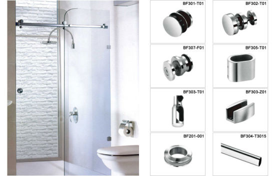 China Luxury Simple Design Frameless Shower Door Hardware China