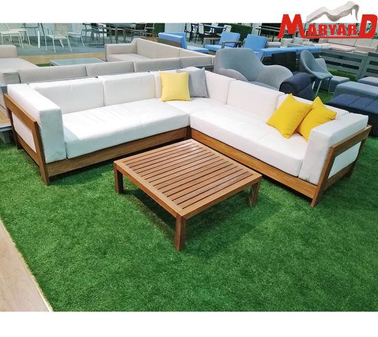 China Cheap Outdoor Garden Patio Furniture Wooden Sofa Set China