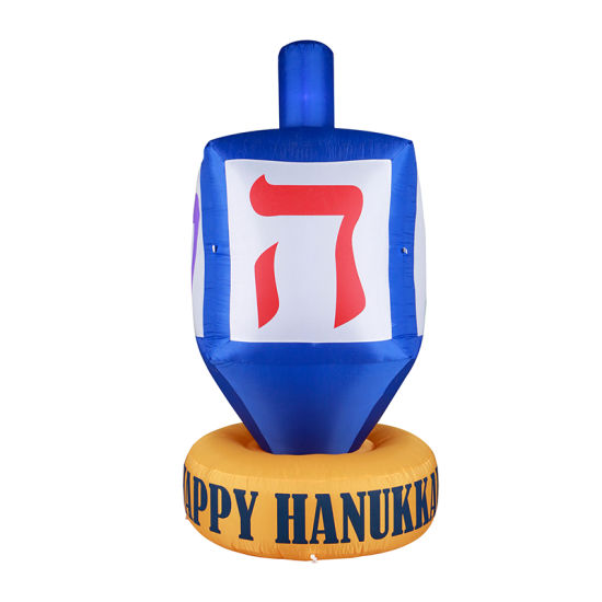 Happy Hanukkah Inflatable Dreidel Decorations with LED Light