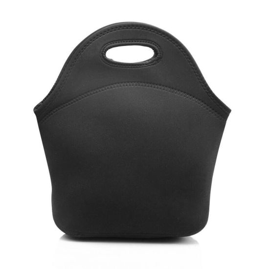 Reusable Recycled Wholesale Large Black Neoprene Insulated Lunch Cooler Bag