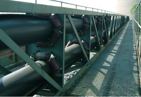 Large-Capacity Curved Conveyor Material Handling Equipment for Coal Mine