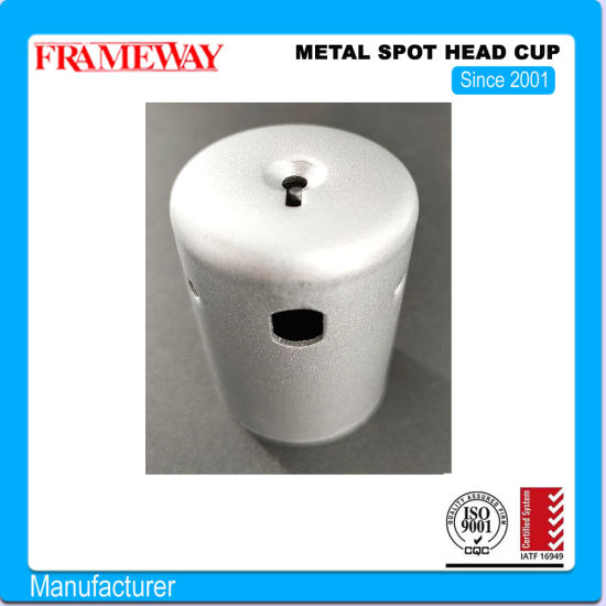 OEM/ODM Manufacturing Lighting Component Metal Spot Head Cup GU10 White Painted Deep Drawing Powder Coating