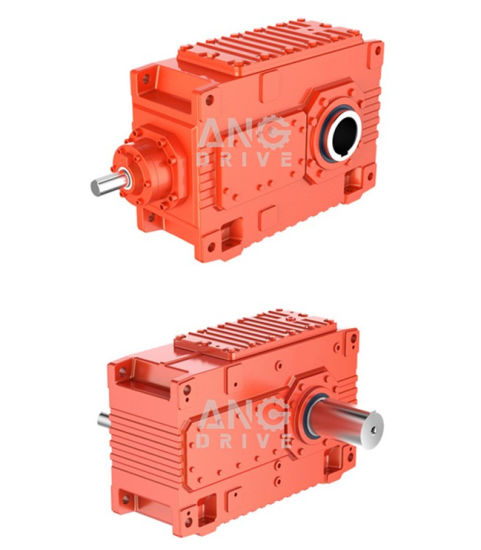 Hb PV Industrial High Power Big Torque Flat Right Angle Hollow Shaft Bevel Helical Transmission Gearbox Gear Unit