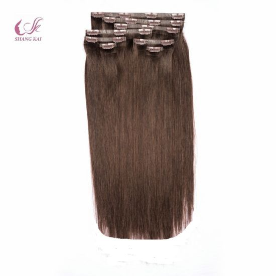 Seamless Clip Hair Extension 100% Brazilian Virgin Remy Human Hair