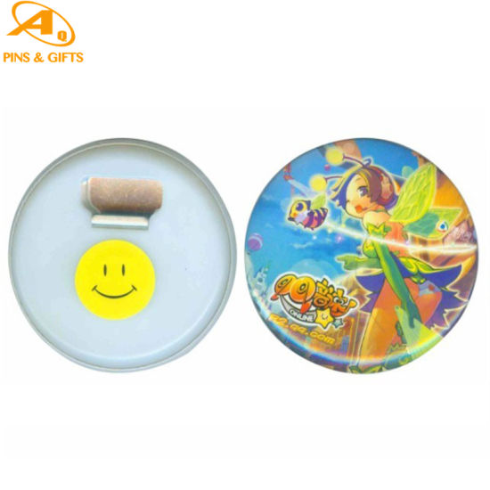 BSCI Factory Mould Making Machine Sale Cheap Custom Leather as Decoration Tin Button Badge