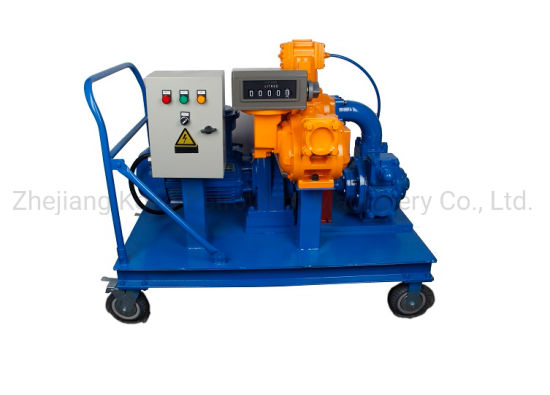 Mobile Vane Pump Fuel Unit with Positive Displacement Flow Meter