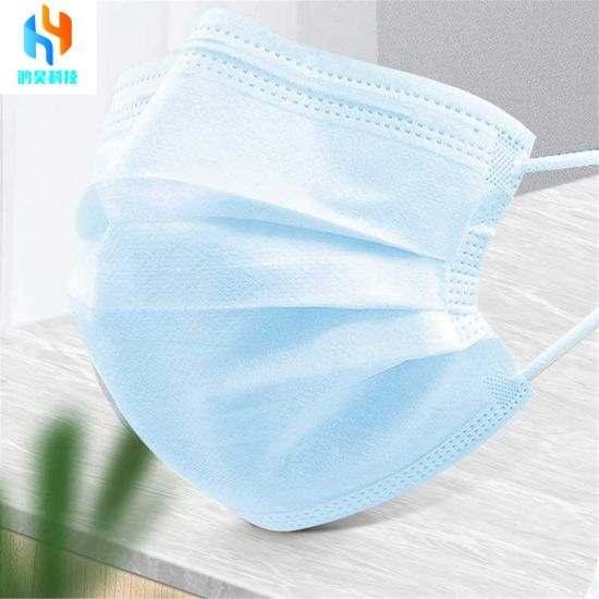 High Quality 50 Pack 3D Disposable Face 3ply Mask Protective Adjustable Ealstic Earloop Meltblown Fabric Non Medical Grade