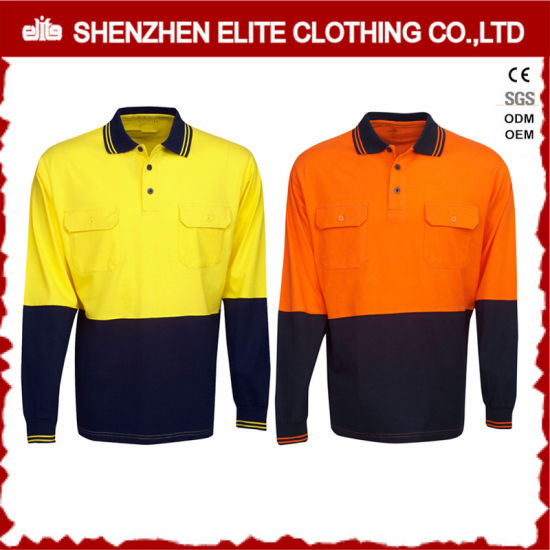 937055d50 Wholesale Custom Made Reflective Cotton Work Wear Polo Shirts (ELTSPSI-11)  pictures &