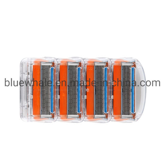 5 Layers Razor Blades for Fusion Power Shaver in Original Case 4PCS/Lot, 8PCS/Lot