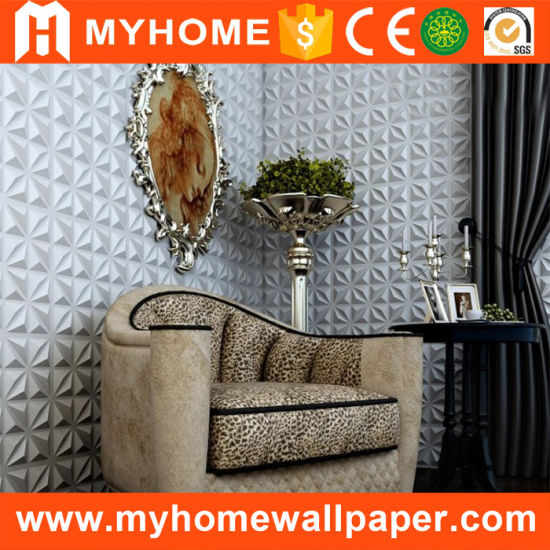 Popular TV Background PVC Interior Paintable 3D Wall Panel for Ceiling pictures & photos