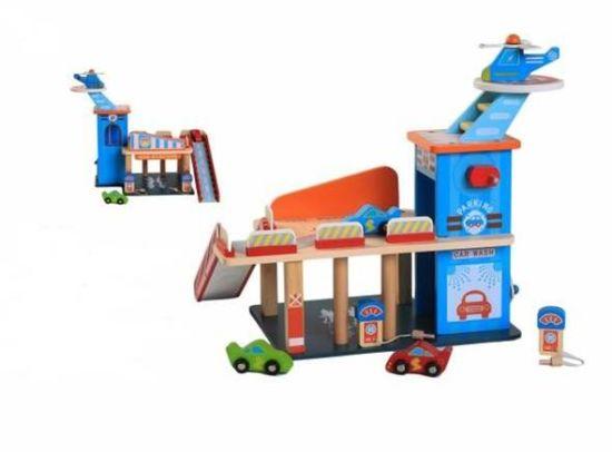 Wooden Parking Garage Toys Manufacturer, Parking Garage Toys