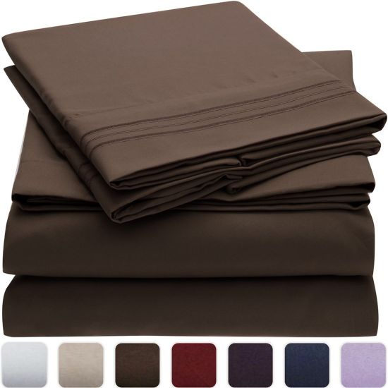 Hypoallergenic 100GSM Bushed Queen Microfiber Bed Sheet Set pictures & photos