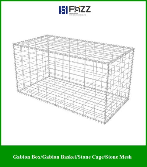 "Outdoor Garden Gabion Stone Basket, Steel Garden Decoration, Galvanized Steel 78.7"" X 11.8"" X 39.4"" pictures & photos"