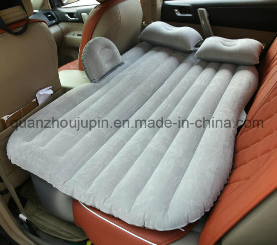 Custom PVC Travel Suede Inflatable Car Bed Mattress