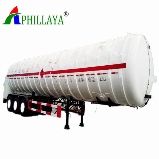 Storage Transport Gas Liquid Truck Semi Tanker Trailer LNG Tank pictures & photos