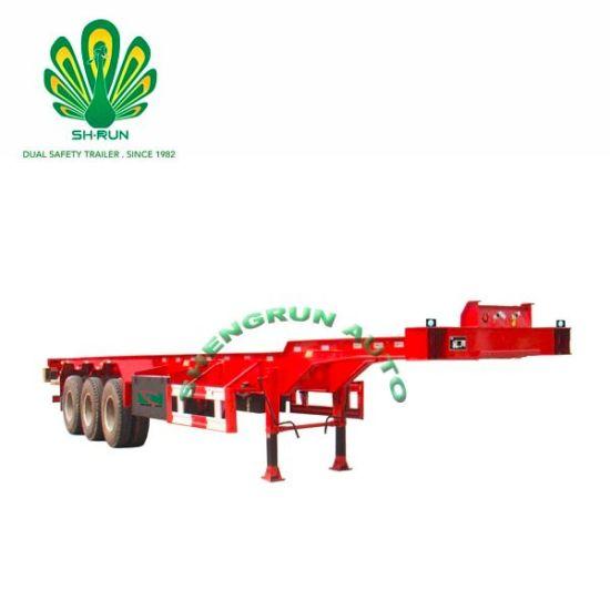 Shengrun Manufacturer 3 Axle 40FT Skeletal Container Cargo Semi-Trailers