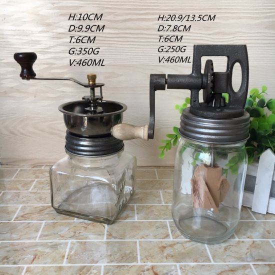 Butter Churner with Glass Mason Jar 450ml 16oz with Handle pictures & photos
