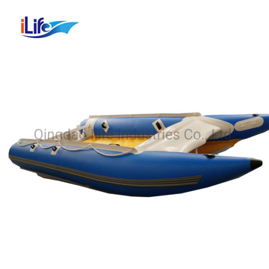 Ilife 4.1m High Speed PVC/Hypalon Inflatable Catamaran Boat Catamaran Work Boat Inflatable Speed Boat