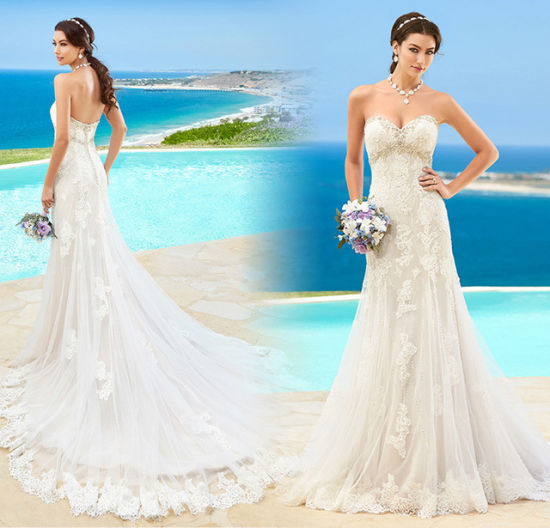 China Sweetheart Wedding Dress Lace A-Line Bridal Gown 2017 Wd153 ...