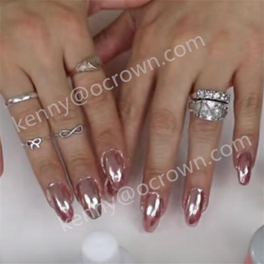 Avon Chrome Nail Powder: China Rose Gold Shimmer Unicorn Nail Art Chrome Pigment
