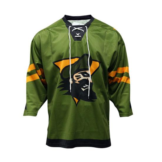China Healong Custom Sublimation Hockey Jersey Cheap Wholesale Ice
