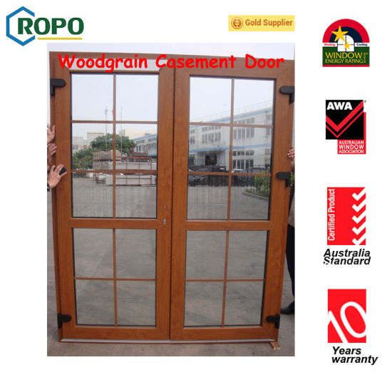 China Exterior Wooden Color Double Glazed French Door China French