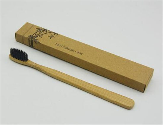Eco-Friendly Wholesale Charcoal Bristle Adult Children Bamboo Toothbrush pictures & photos