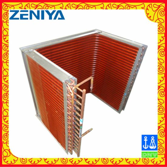High Quality Copper Tube Copper Fin Condenser Coil for AC Outdoor Unit pictures & photos