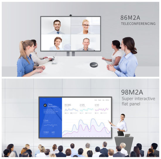 Multi Writing OPS Slot Infrared Touch Screen Board 4K HD Display 86 Inch Smart Interactive Flat Panel