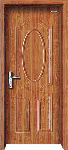 Interior Door Steel Wooden Door with Panel pictures & photos
