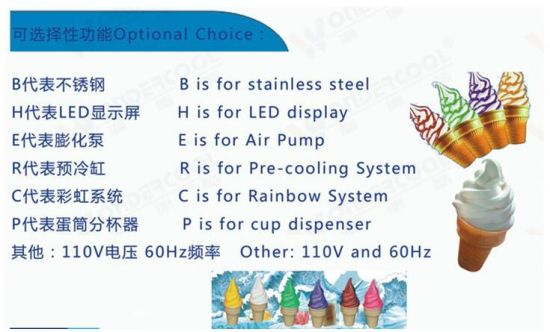 18-22L/H Floor Stand Ss Soft Ice Cream Making Machine Best Price pictures & photos