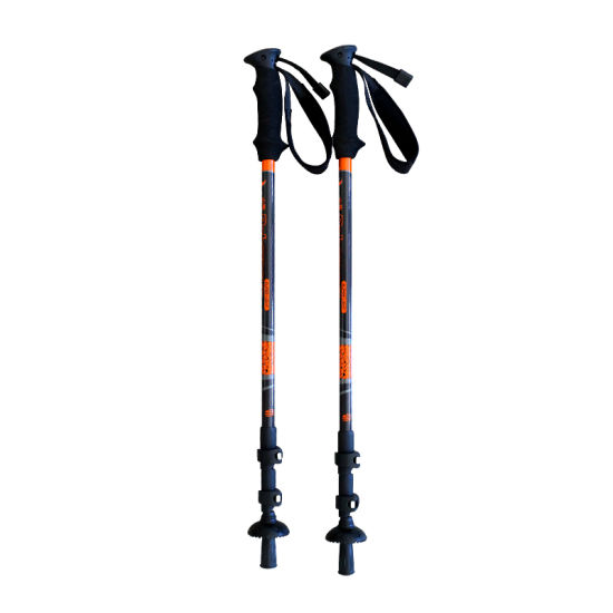 Outdoor Adjustable Shock-Absorbing Mountain Climbing Carbon Fiber Trekking Hiking Stick pictures & photos