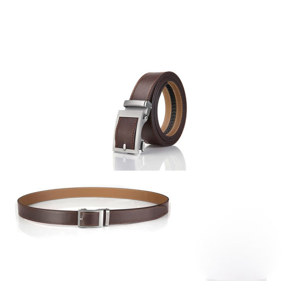 Genuine Leather Golf Belt for Mens Automatic Buckle Waist Belts Casual