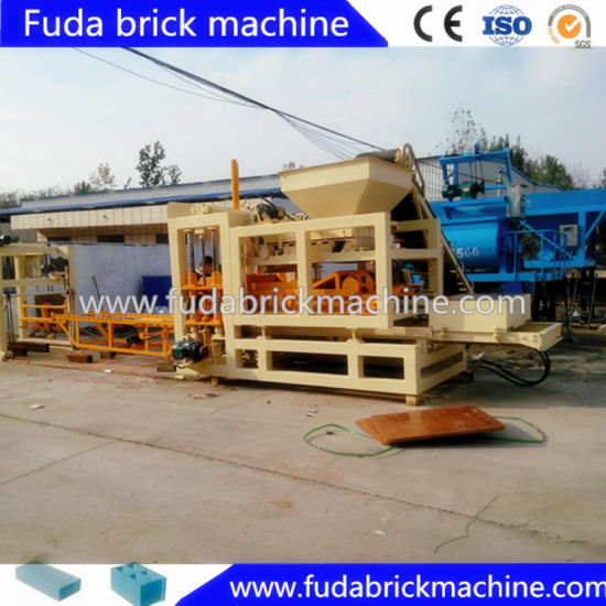 Medium Sized Full Automatic Concrete Interlocking Block Making Machine pictures & photos