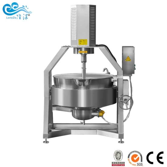 China Factory Industrial Automatic Gas Heating Stirring Kettle for Tomato Sauce by Ce SGS Approved