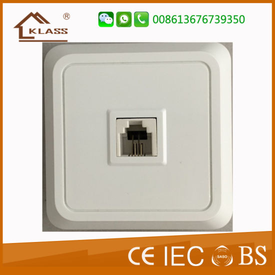 China RJ45 Euro Style Flush Mounted Internet Power Wall Socket ...