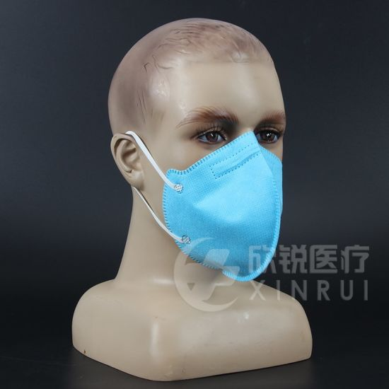 Disposable Industrial Protective KN95 Face Mask Without Valve Blue