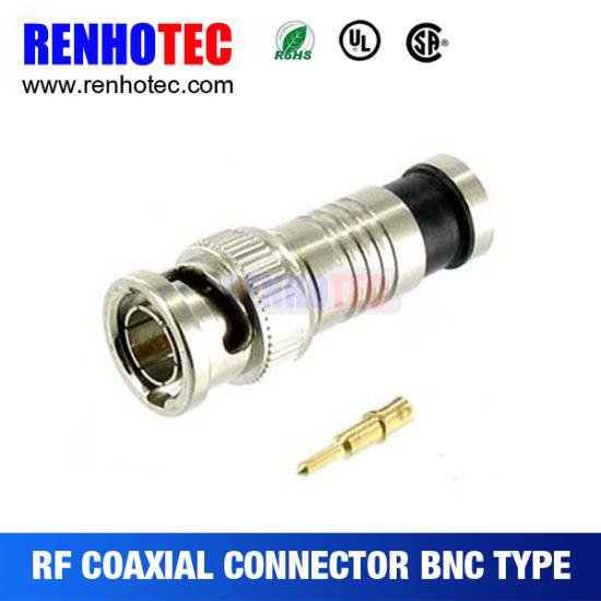 High Quality RG59 RG6 Use CCTV Compression BNC Connector